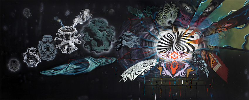 'Strange Attractor (At The End Of Time)' - akryl på lærred 195x485cm, 2013